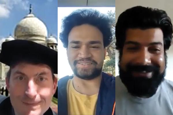 photos of three smiling men.